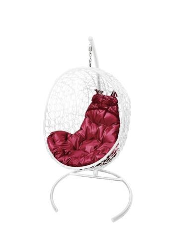 Кресло подвесное Porto white/burgundy