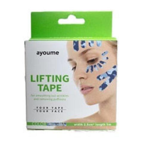 Ayoume Kinesiology Tape Roll Кинезио тейп для лица (камуфляж голубой) 2,5см х 5м