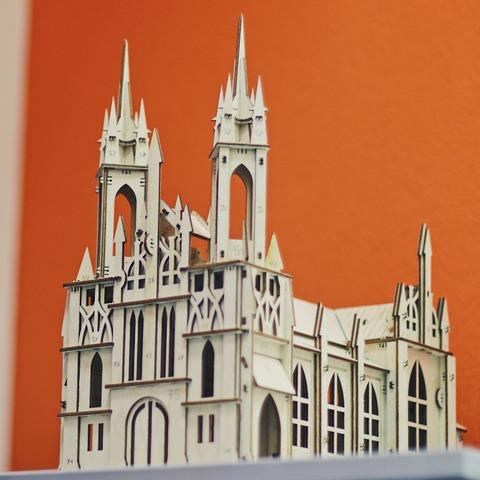 Католический костёл из Самары от UNIWOOD - Сборная модель, деревянный конструктор