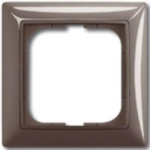 Рамка на 1 пост. Цвет серый. ABB(АББ). Basic 55(Бейсик 55). 1725-0-1531