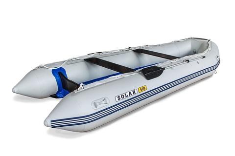 Надувная ПВХ-лодка Солар Максима - 450 К (светло-серый)