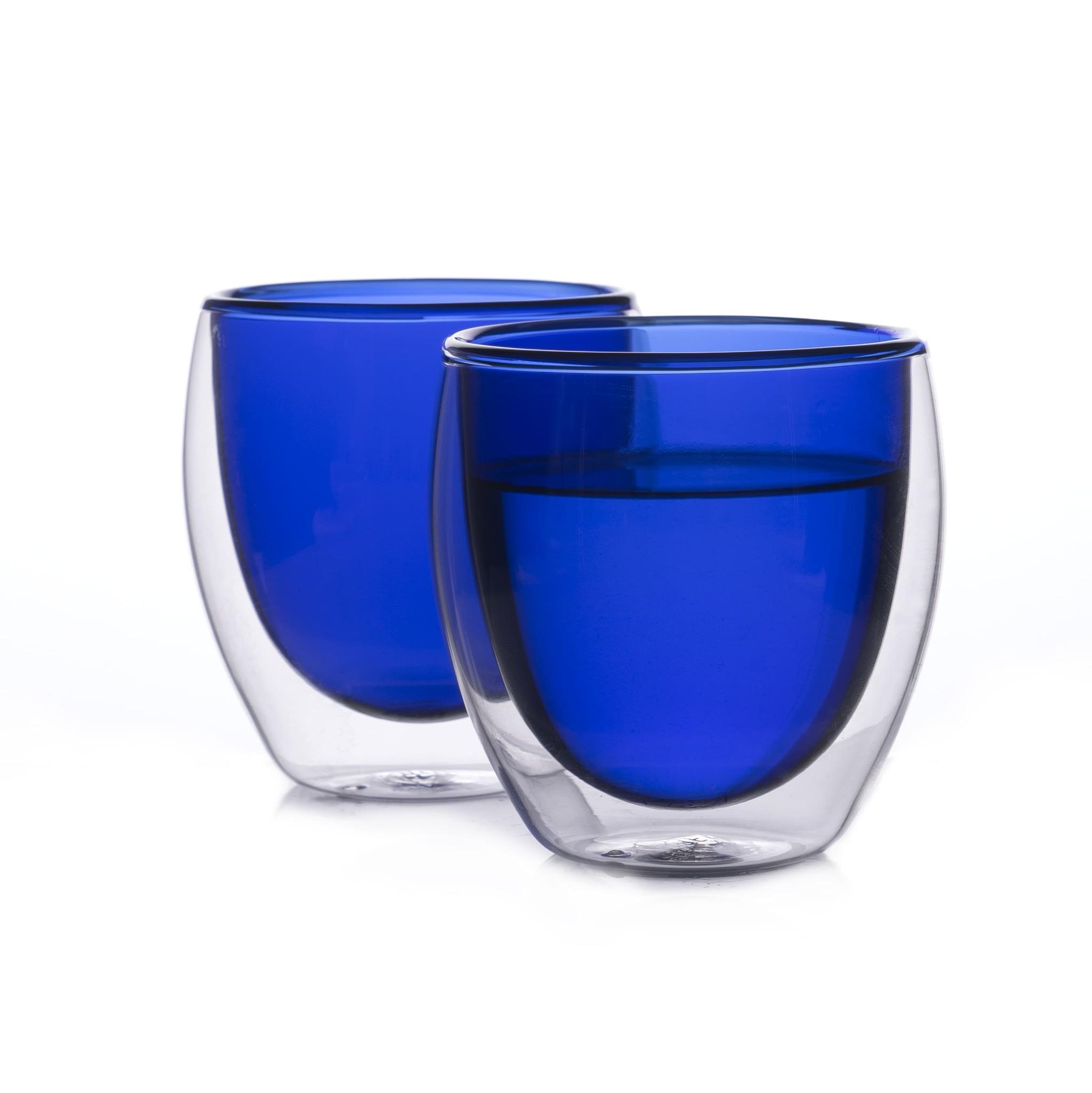 Наборы-Акции Набор стаканов из двойного стекла синего цвета 250 мл, 2 шт. синий3.jpg
