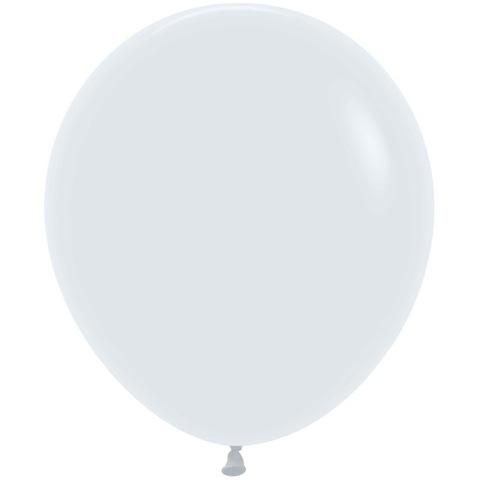 Средний латексный шар Белый, 46 см