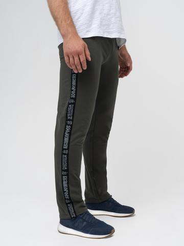 Спортивные штаны «Великоросс» цвета хаки без манжета
