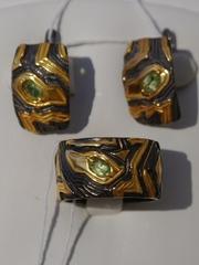 Скапа  (кольцо + серьги из серебра)