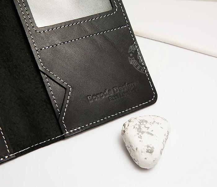 WB134-1 Кошелек с отделением для паспорта, карт и окошком. «Boroda Design» фото 05