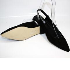 Красивые туфли босоножки на низком ходу Kluchini 5183 Black.