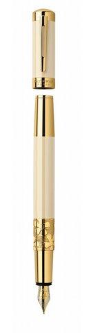 Перьевая ручка  Waterman Elegance, цвет: Ivory GT, перо: F