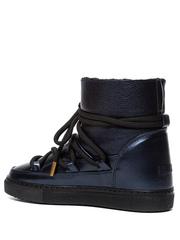 Высокие комбинированные кеды INUIKII Sneaker Leather Night Blue на меху
