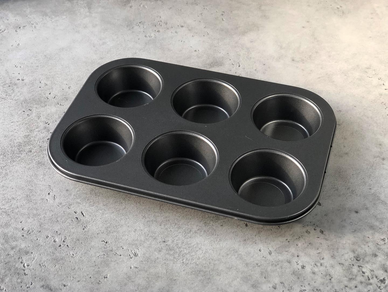 Форма для кексов с антипригарным покрытием, 26×17×3 см, 6 ячеек
