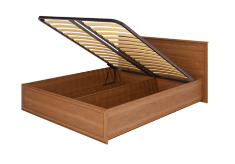Кровать двойная с подъемным механизмом Венеция 5 Ижмебель 160х200 клен торонто
