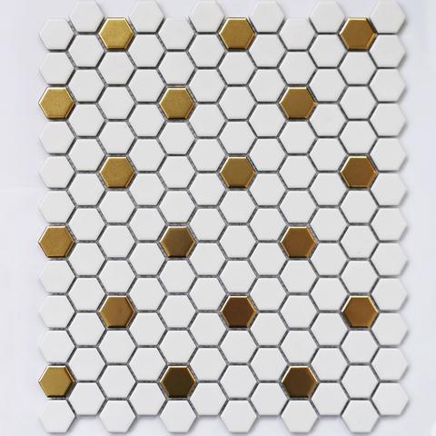 Мозаика керамическая Babylon Gold matt