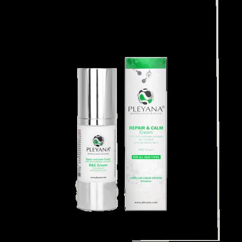 PLEYANA | Успокаивающий крем с антикуперозным комплексом / Repair and calm cream with anti-redness complex, (30 мл)