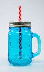 Баночка для смузи и коктейлей, голубая, фото 1