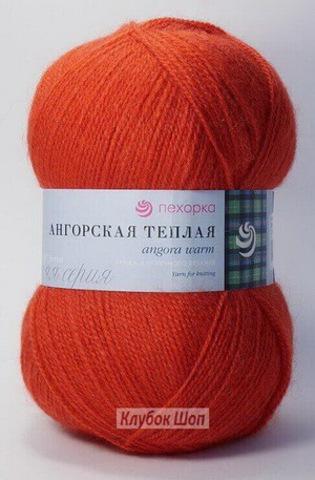 Ангорская теплая 88 Красный мак (Пехорская пряжа)