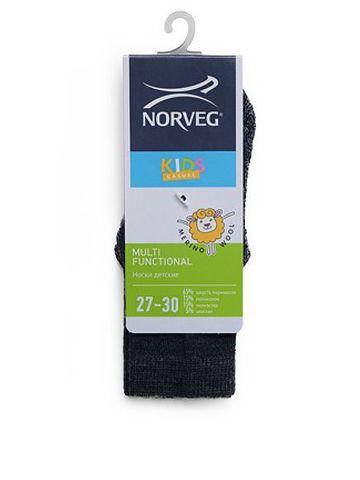 Термоноски Norveg Multifunctional (черно-серые)