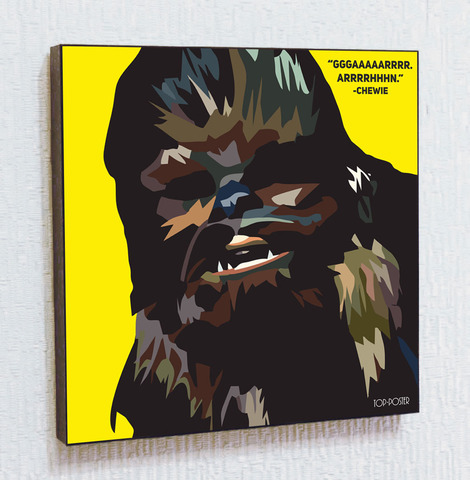 Картина постер Чубакка в стиле ПОП-АРТ