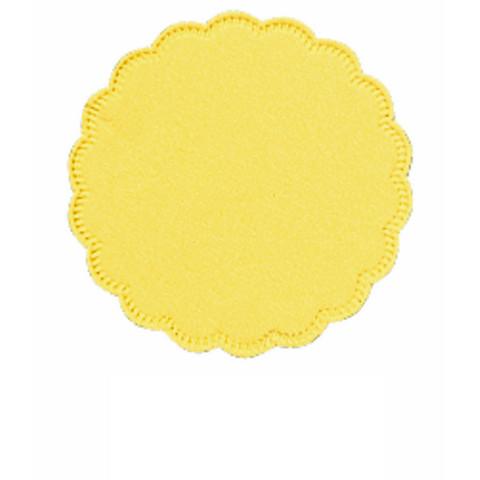 Салфетки бумажные Tork 474472/470244 диаметр 9 см желтые 8-слойные 250 штук в упаковке