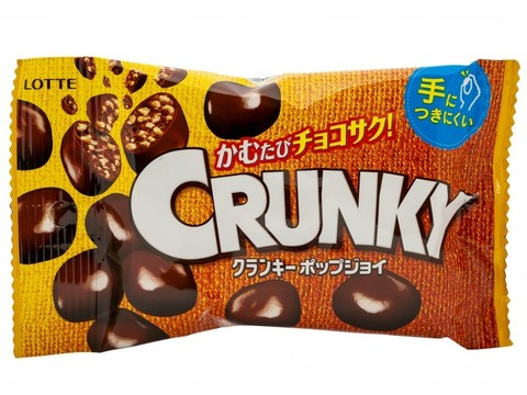 Шоколадное драже Crunky с хрустящим рисом, Lotte, 44 гр., м/у.