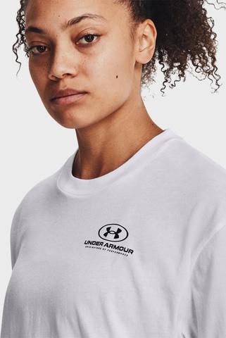 Женская белая футболка Oversized Graphic SS-WHT Under Armour