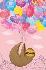 Открытка, Ленивец с шариками, 12,1 х 18.3 см, 1 шт.