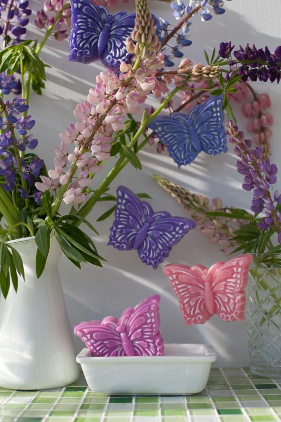 Мыло ручной работы в виде бабочки