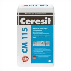 Клей для мраморной плитки и стеклянной мозаики CERESIT СМ 115 (белый)