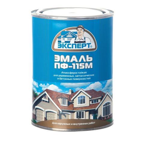 Эмаль ПФ-115 Эксперт гл.черн.(0,8кг)
