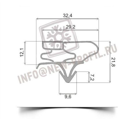 Уплотнитель для холодильника  LG GRS389SQF х.к 970*570 мм (003)