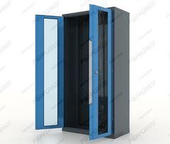 Шкаф инструментальный металлический, двери со стеклом, 13.9002, серия