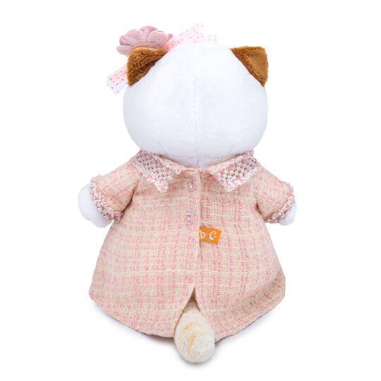 Кошечка Ли-Ли в розовом костюме в клетку