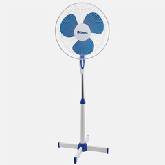 Вентилятор напольный 35 Вт, 43 см DELTA DL-001N белый с синим, min=4 шт