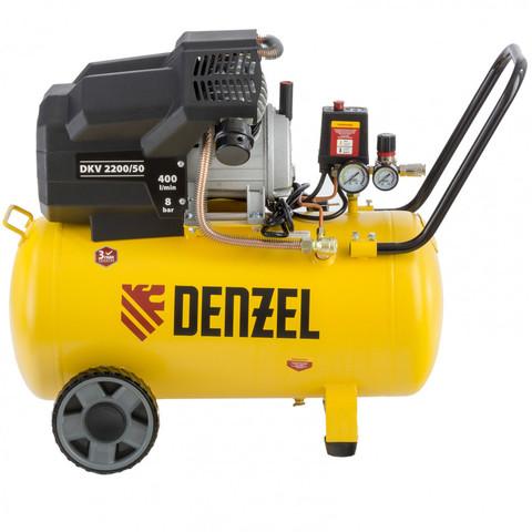 Компрессор воздушный DKV2200/50, Х-PRO 2.2 кВт, 400 л/мин, 50 л Denzel