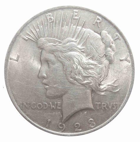 1 доллар 1923. США (Мирный). XF-AU