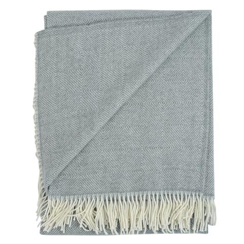 Плед из шерсти мериноса серого цвета из коллекции Essential, 130х180 см