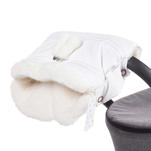 Муфта для коляски Lollycottons белая