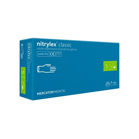 Перчатки нитриловые без пудры NITRYLEX  CLASSIC