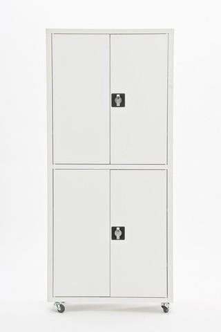 Шкаф медицинский металлический МЕТ ВАЛЕНТИЯ 2ММ, дверки металл/металл - фото