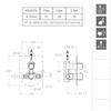 Встраиваемый термостатический смеситель для душа URBAN CHIC 212411S на 1 выход - фото №2