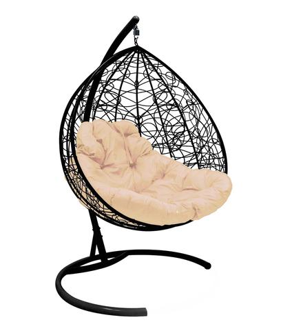 Кресло подвесное Lagos TWIN black/beige