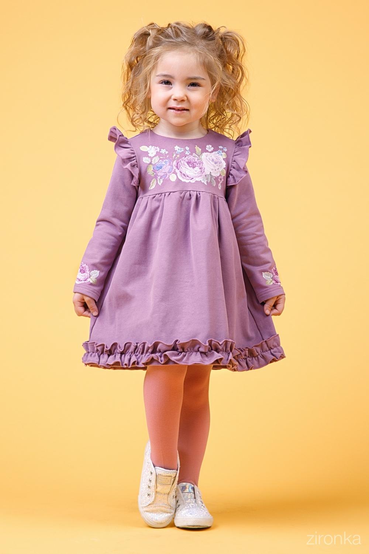 Платье сиреневое для девочки 38-9015-2