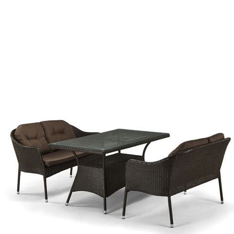 Комплект мебели с диванами (иск. ротанг)  2+1