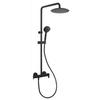 Душевая система с термостатом и тропическим душем для ванны BLAUTHERM 944801RP300NM черный - фото №1