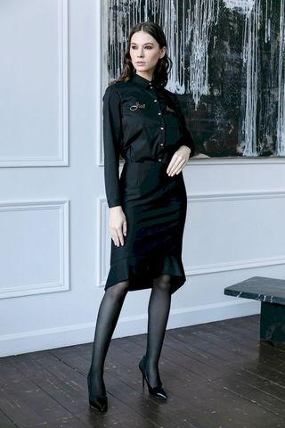 Фото юбка с укороченным спереди низом и воланом - Юбка Б152-168 (1)