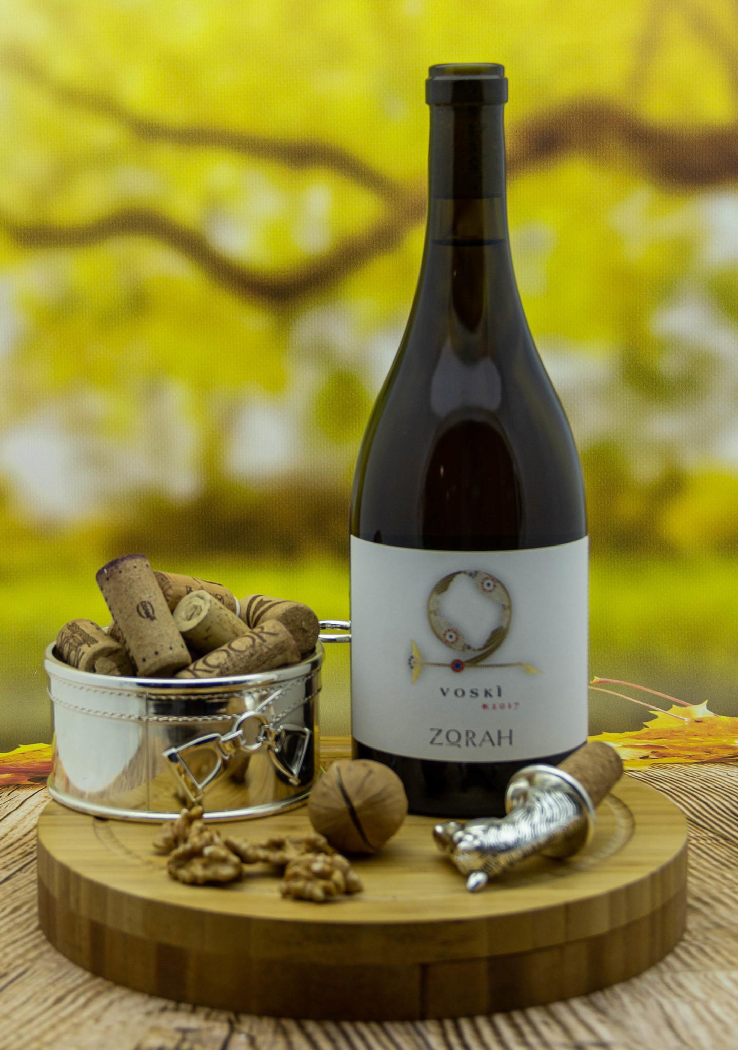 Вино Zorah Воски Белое Сухое 2017 г.у. 14% 0,75 л