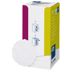 Салфетки бумажные Tork 474474 диаметр 9 см белые 8-слойные 250 штук в упаковке