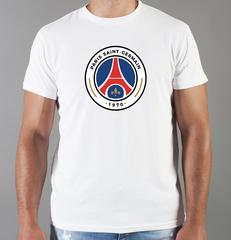Футболка с принтом FC Paris Saint-Germain (ФК Пари Сен-Жермен) белая 006