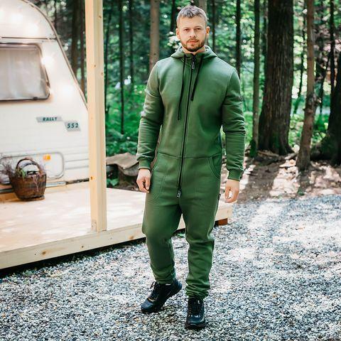 Warm jumpsuit for men - Khaki