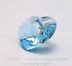 6228 Подвеска Сваровски Сердечко Aquamarine (14,4х14 мм)
