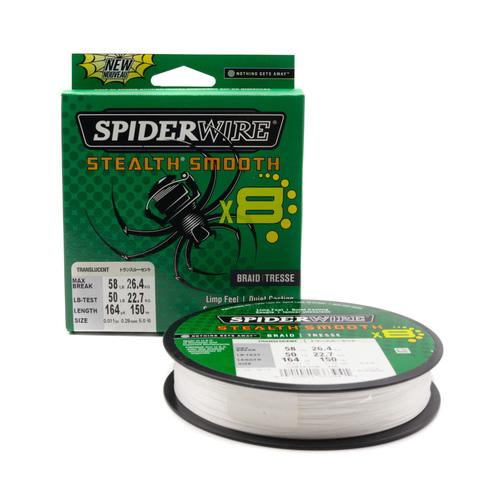 Плетеная леска Spiderwire Stealth Smooth 8 Полупрозрачная 0,29 мм. 26,4 кг. 150 м. (1515655)